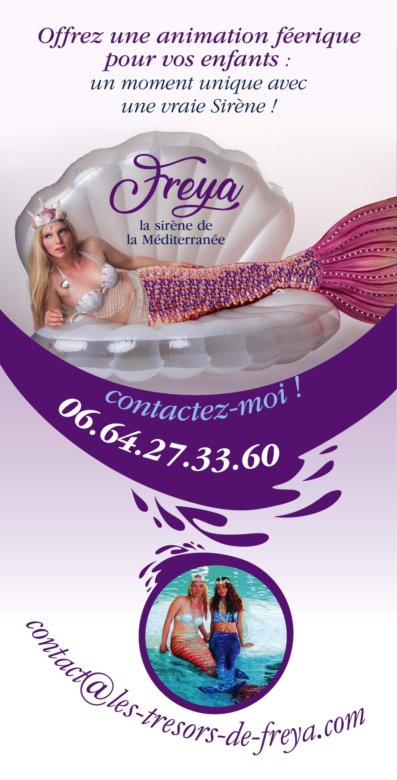 Flyer Freya la sirène - Animations enfants